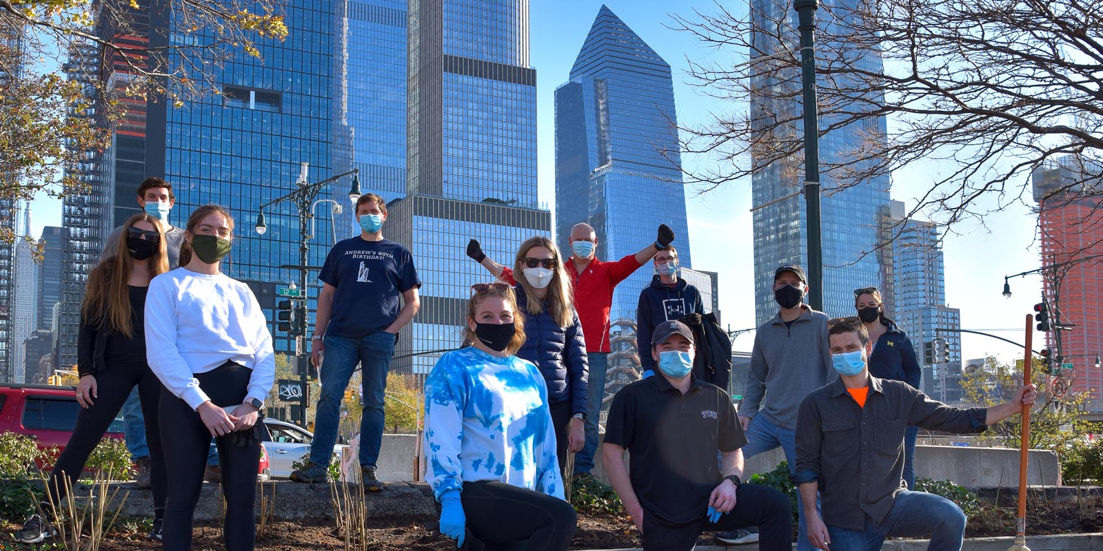 Celebrating and volunteering for Hudson River Park